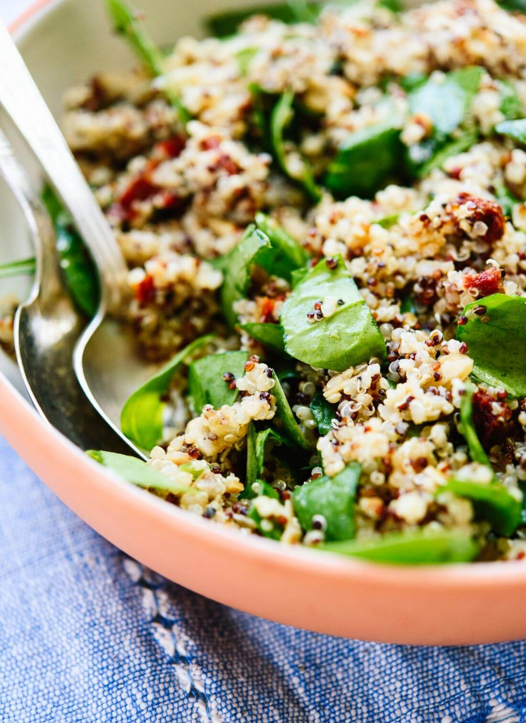 Sun-Dried Tomato, Spinach and Quinoa Salad - Cookie and Kate