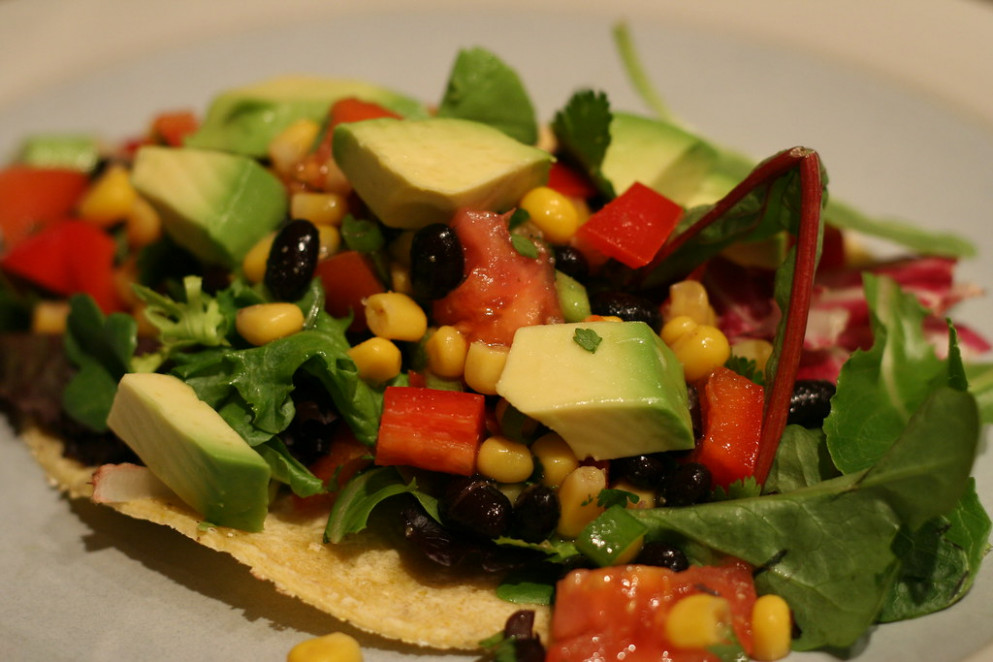 Super bean salad tacos