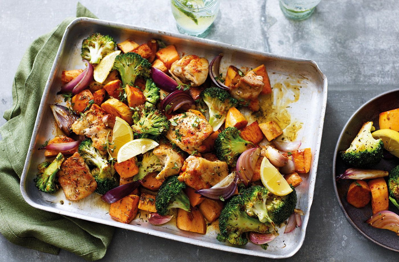 Sweet Potato And Chicken Traybake