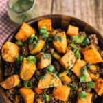 Sweet Potato And Ground Beef Bowl