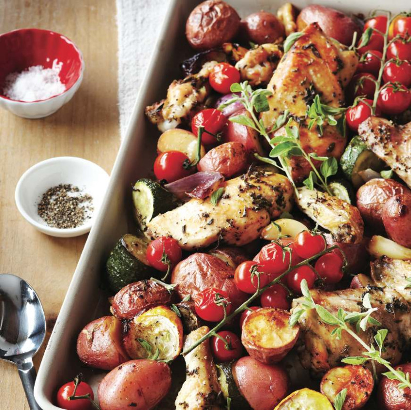 Sweet Potato Chronicles' herbed chicken tray bake ...