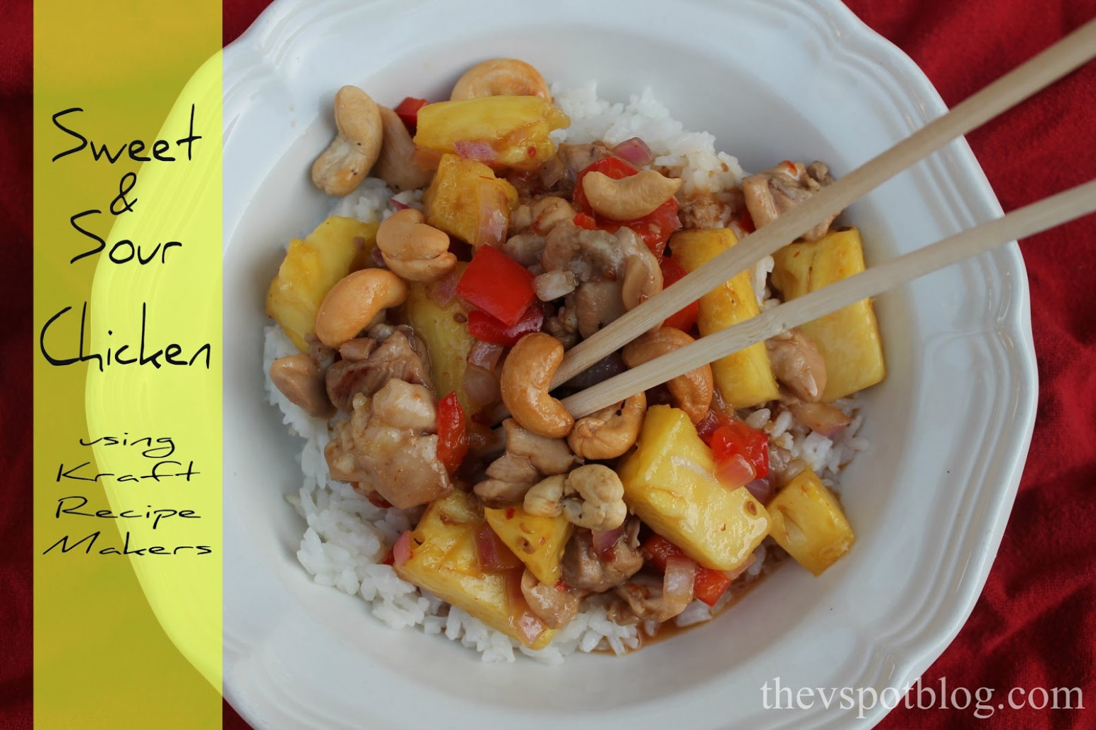 Sweet & Sour Chicken with Kraft Recipe Makers | The V Spot