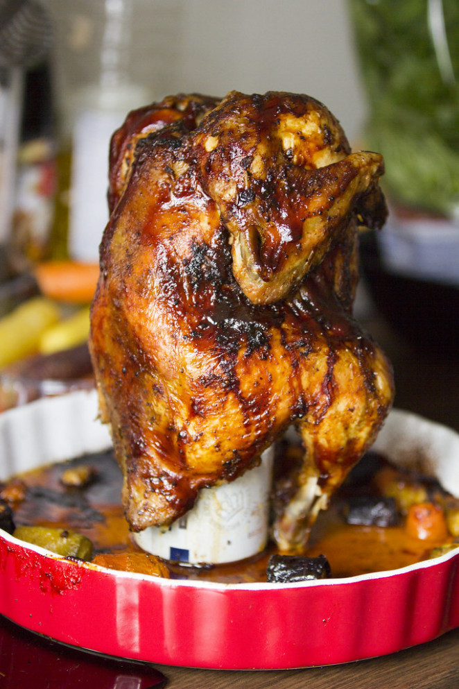 Sweet & spice beer can chicken