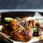 Sweet & Spicy Honey Sriracha Grilled Chicken Thighs Recipe