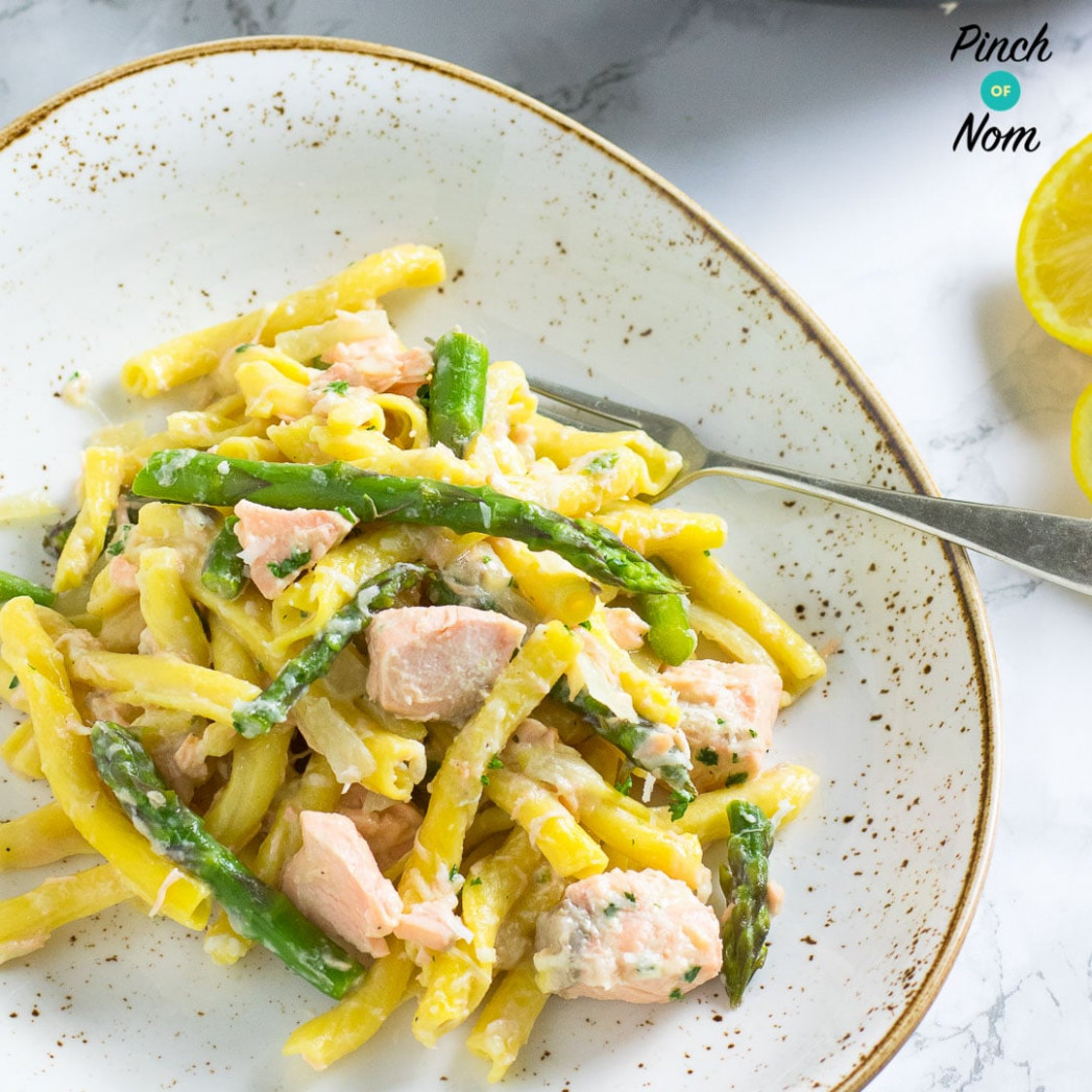 Syn Free Creamy Salmon and Asparagus Pasta   Slimming ...