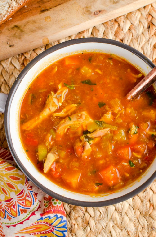 Syn Free Spicy Chicken and Vegetable Soup | Slimming World ...
