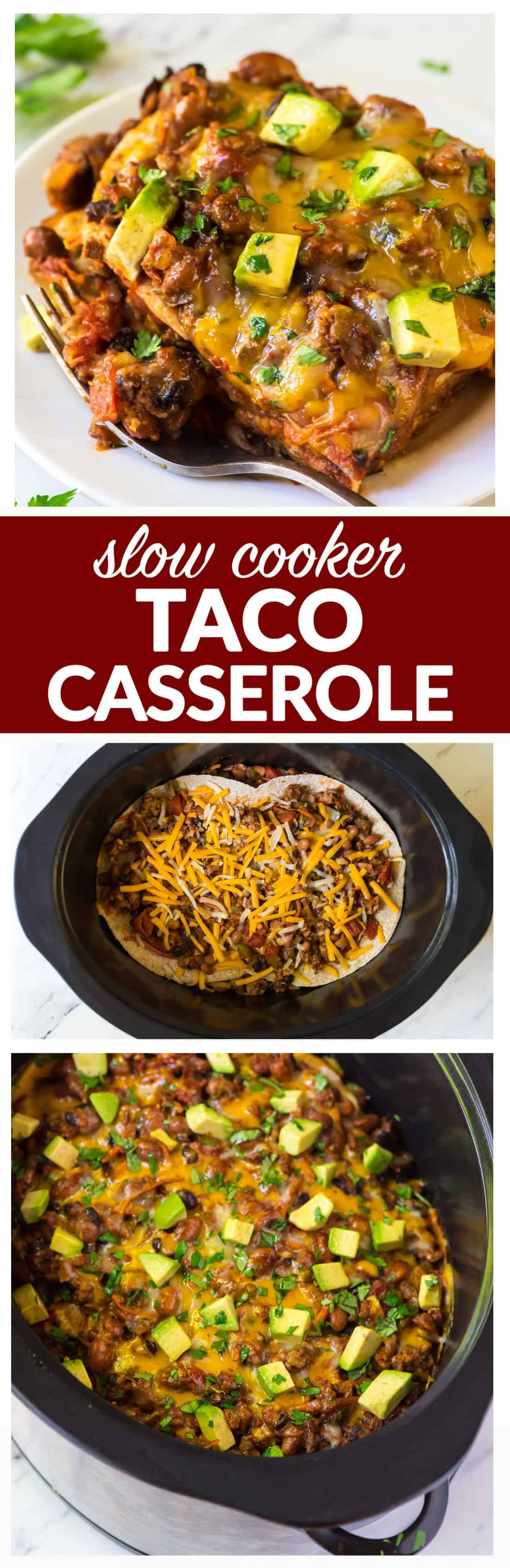 Taco Casserole   Healthy Slow Cooker Recipe   Well Plated ...