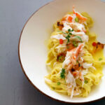 Tagliatelle With King Crab, Grilled Murcott Tangerines …