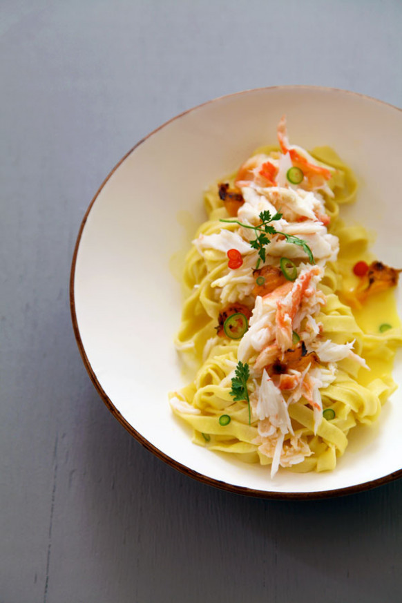 Tagliatelle with King Crab, Grilled Murcott Tangerines ...