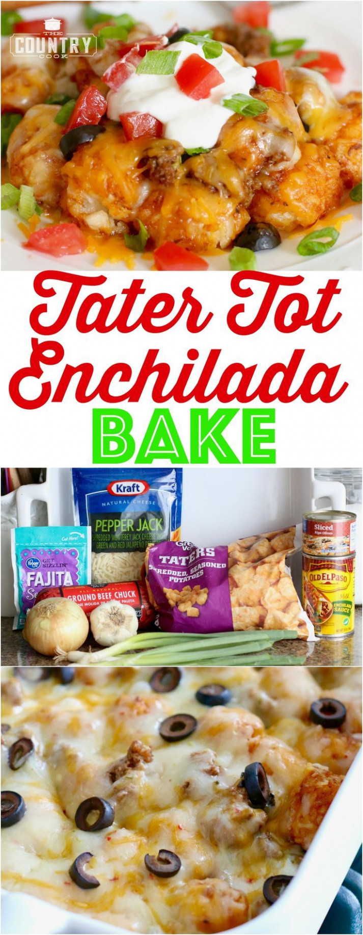 Tater Tot Enchilada Bake | Recipe | Recipes from our ...