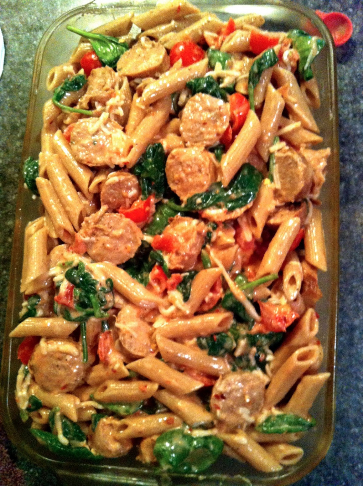taylor made: light pasta bake with chicken sausage ...
