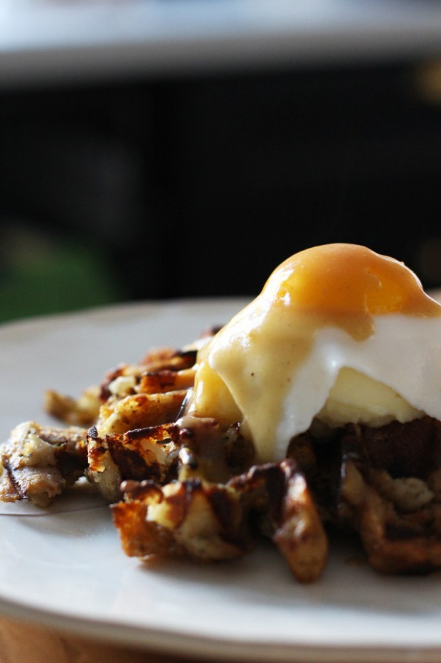 Thanksgiving Leftovers: Breakfast Stuffing Waffles recipe ...