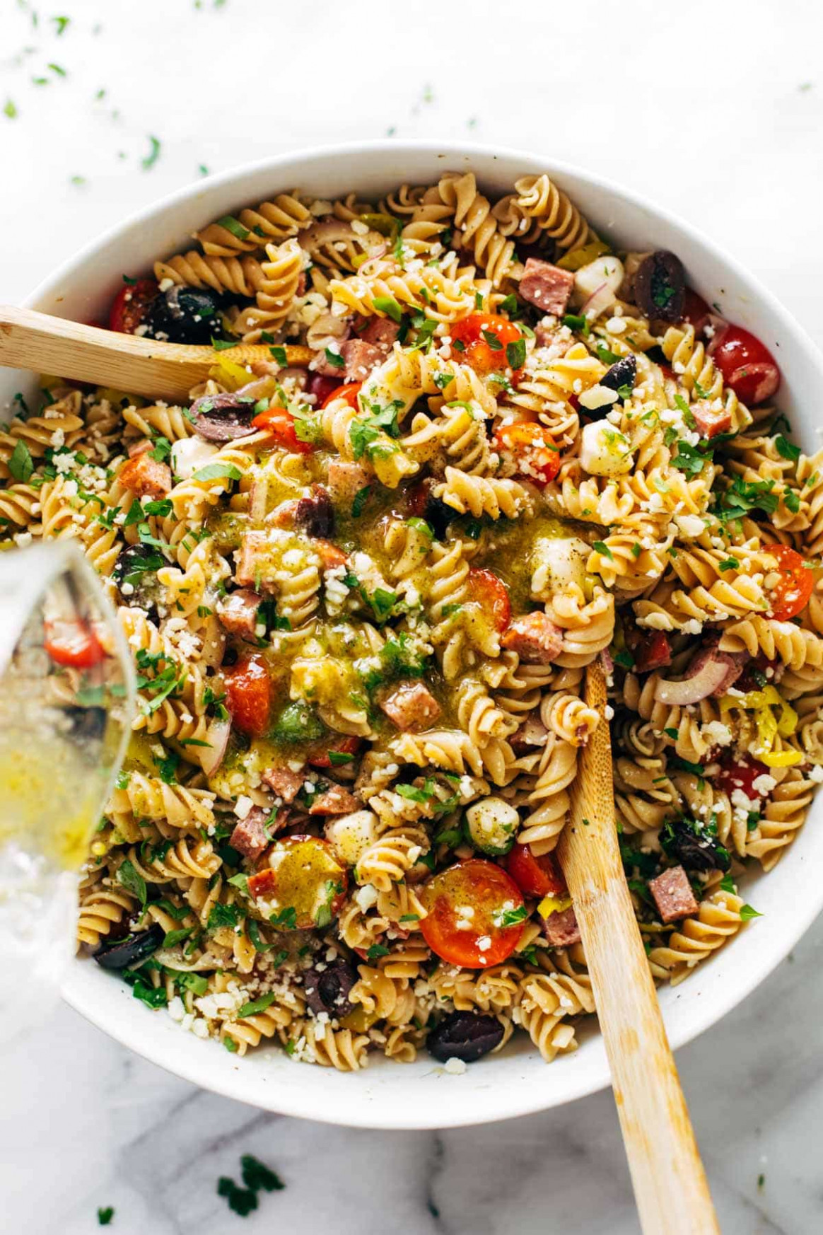 The Best Easy Italian Pasta Salad Recipe - Pinch of Yum