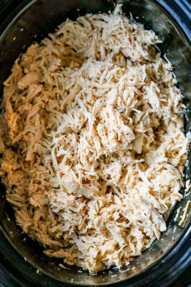 The Best Easy Slow Cooker Shredded Chicken Recipe - Sweet ...