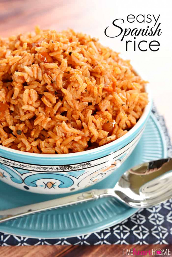 The BEST Easy Spanish Rice (+ VIDEO) • FIVEheartHOME