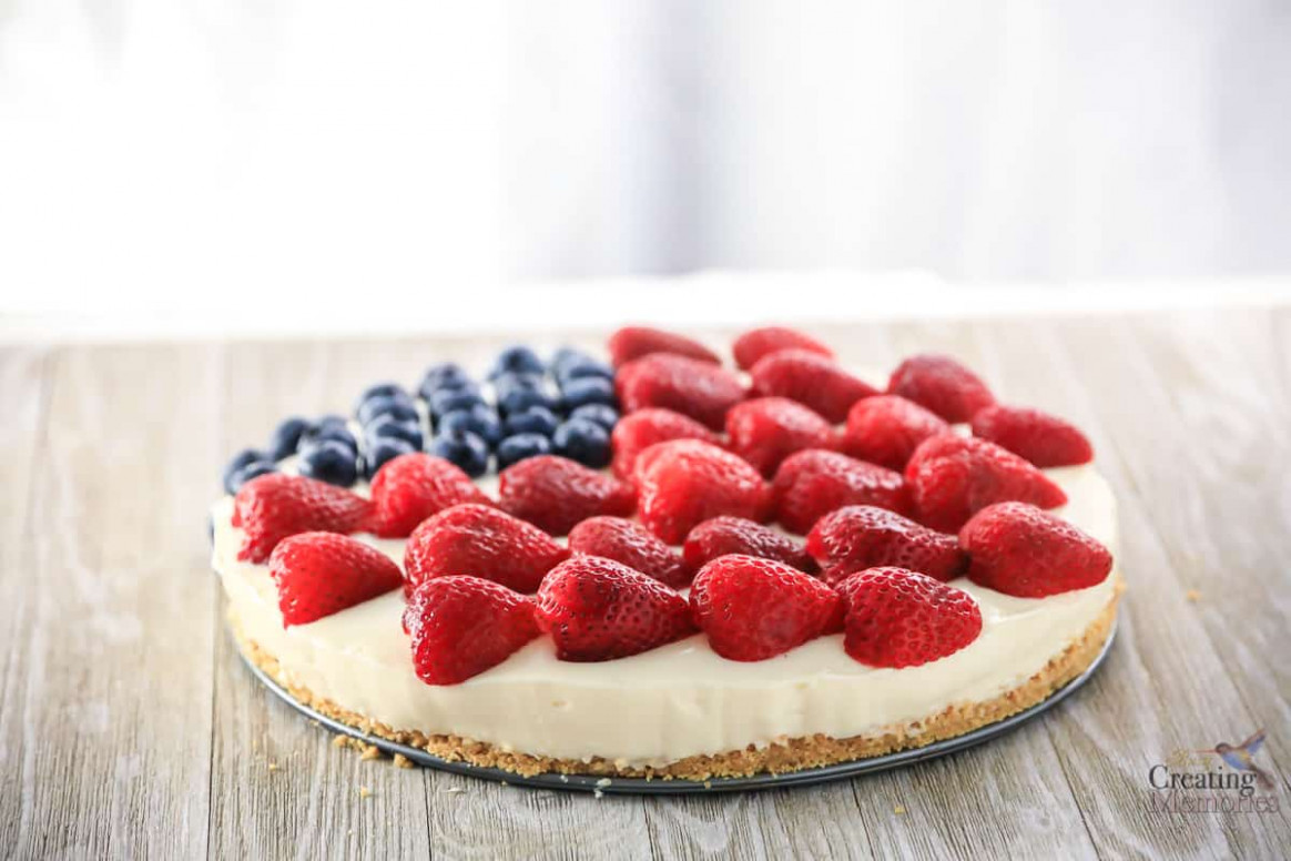 The Best Ever Easy American Berry No Bake Cheesecake Recipe