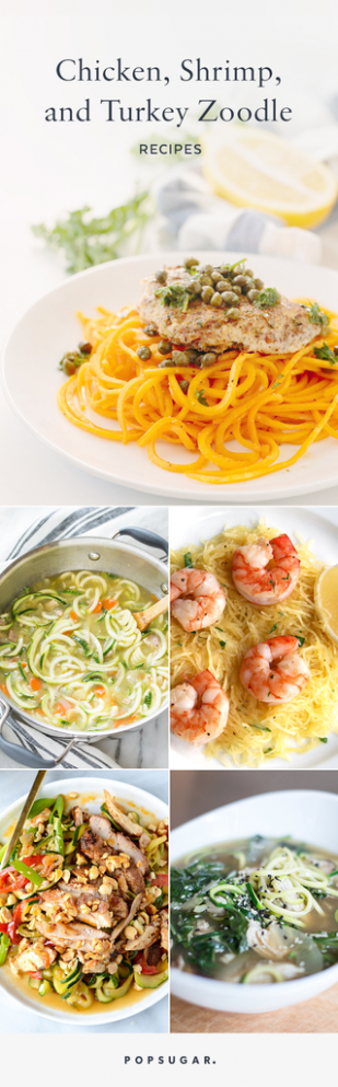 The Best Zoodle Recipes With Chicken, Turkey, and Shrimp ...