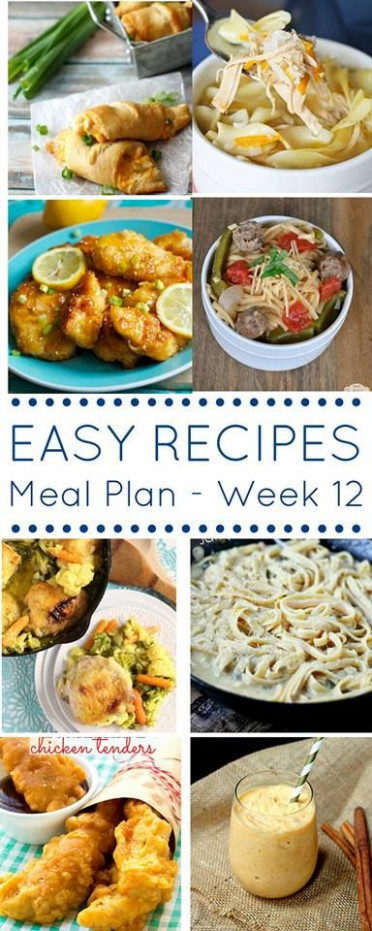 The Easy Dinner Recipes Meal Plan, easy, yummy recipe ...