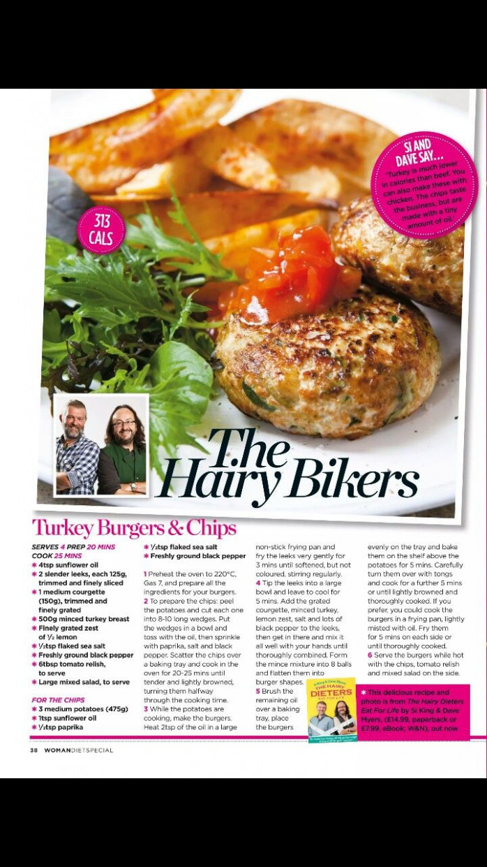 the hairy bikers turkey burgers and chips | Recipes ...
