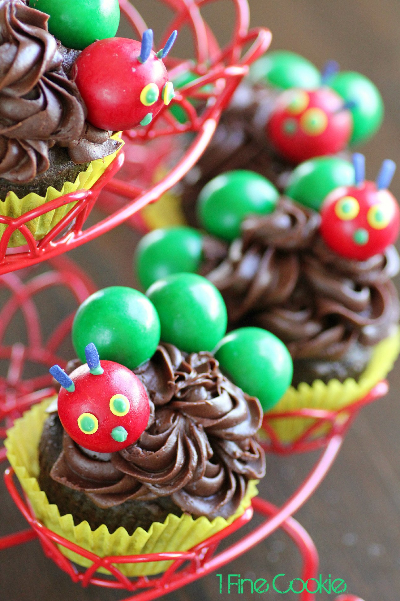 The Very Hungry Caterpillar Cake and Cupcakes