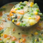This Slow Cooker Creamy Vegetable Soup Is A Hearty …