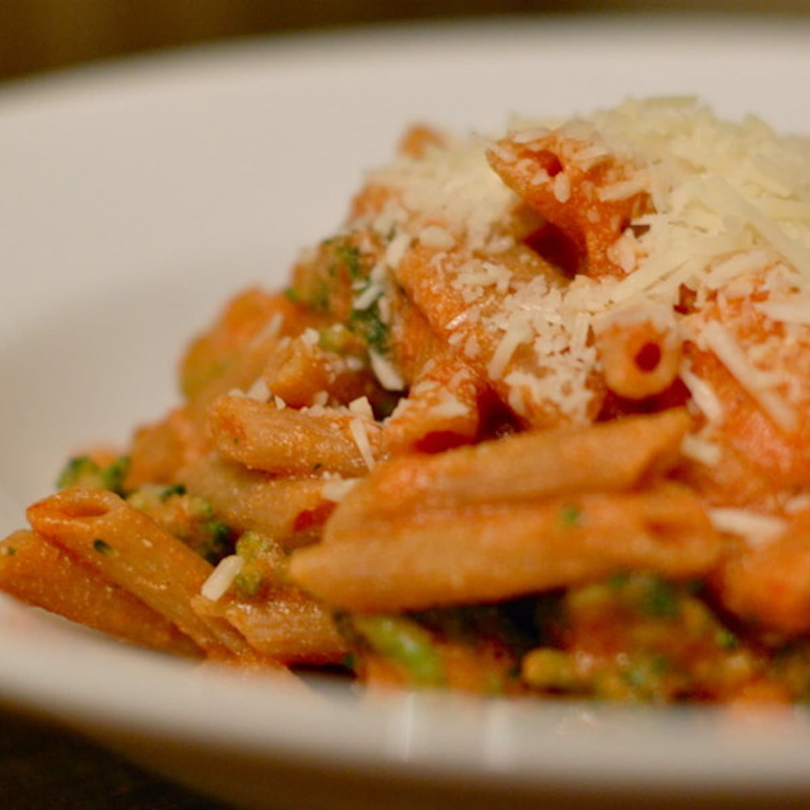 Tomato Ricotta Pasta with Broccoli Recipe - Pinch of Yum