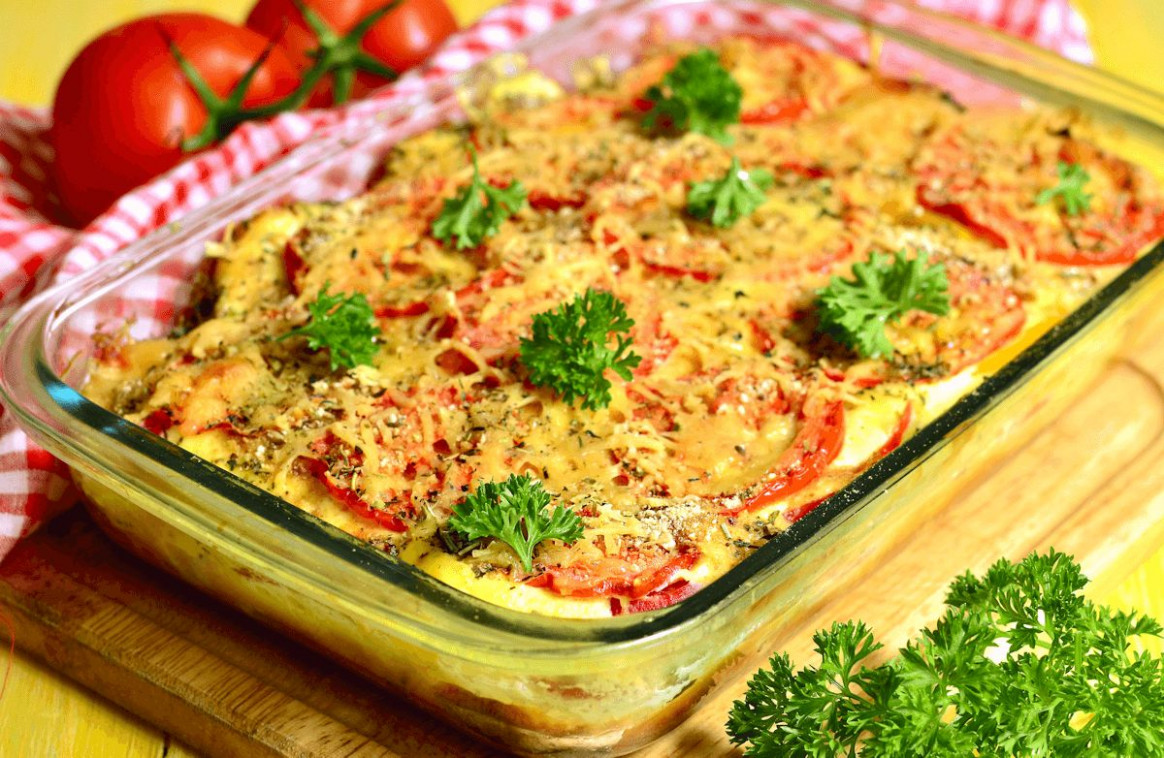 Tomato Vegetable Casserole Recipe | SparkRecipes