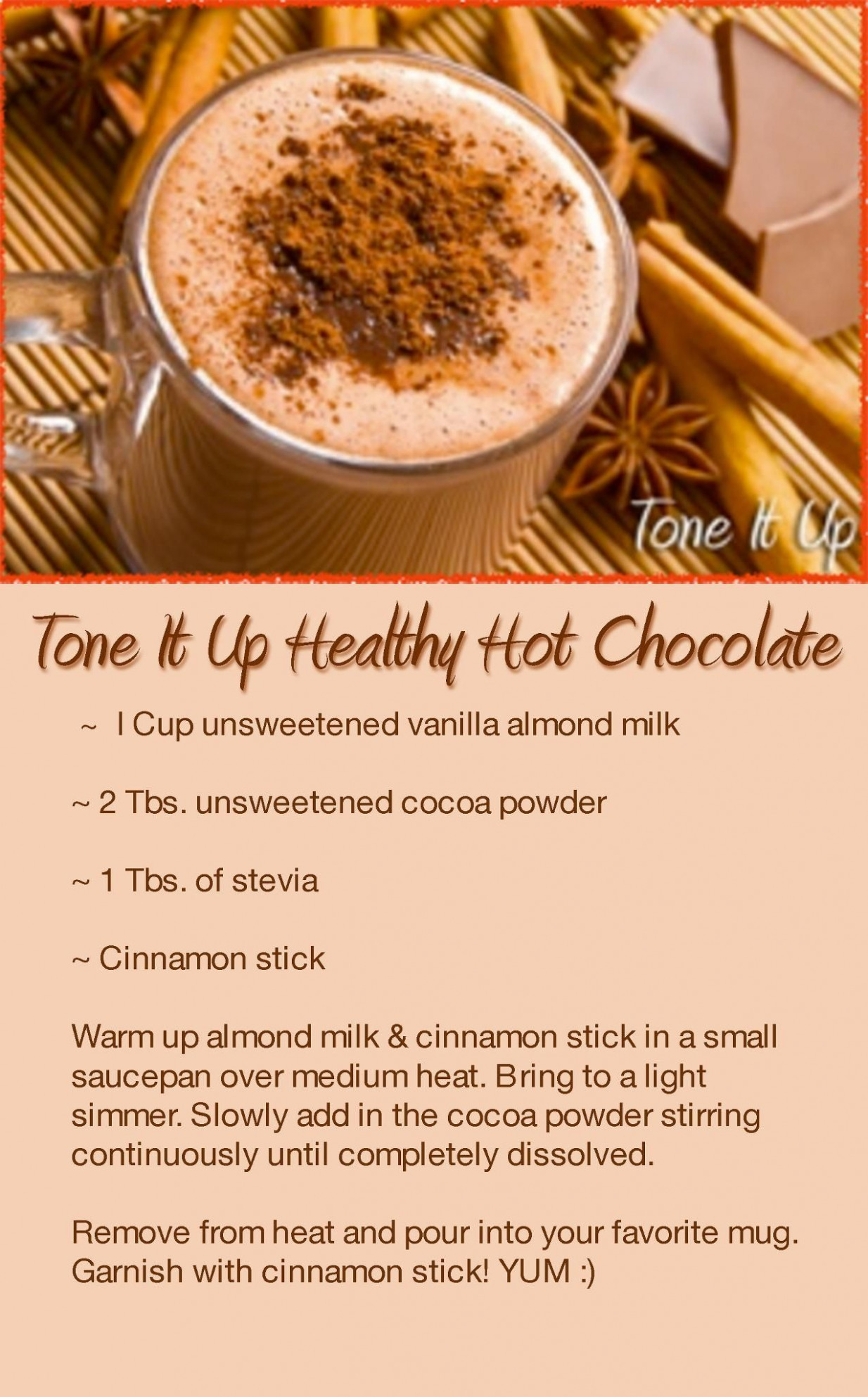 Tone it Up Healthy Hot Chocolate | Drinks and Smoothies in ...