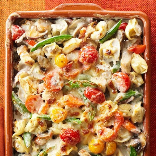 Tortellini-Vegetable Bake | Recipe | Pasta | Baked ...