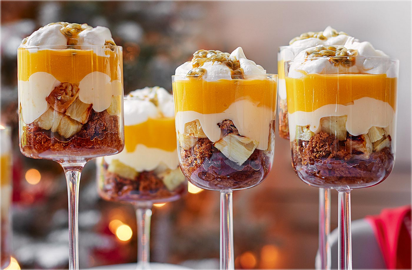 Tropical Fruit Trifles