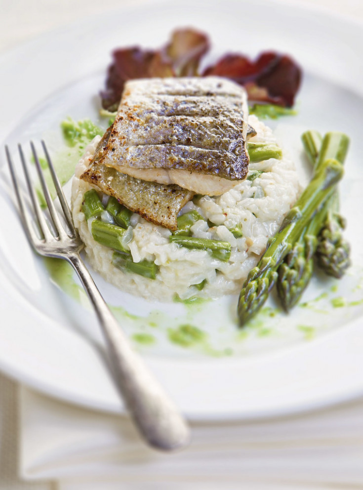 Trout Fillet With Asparagus Rissoto