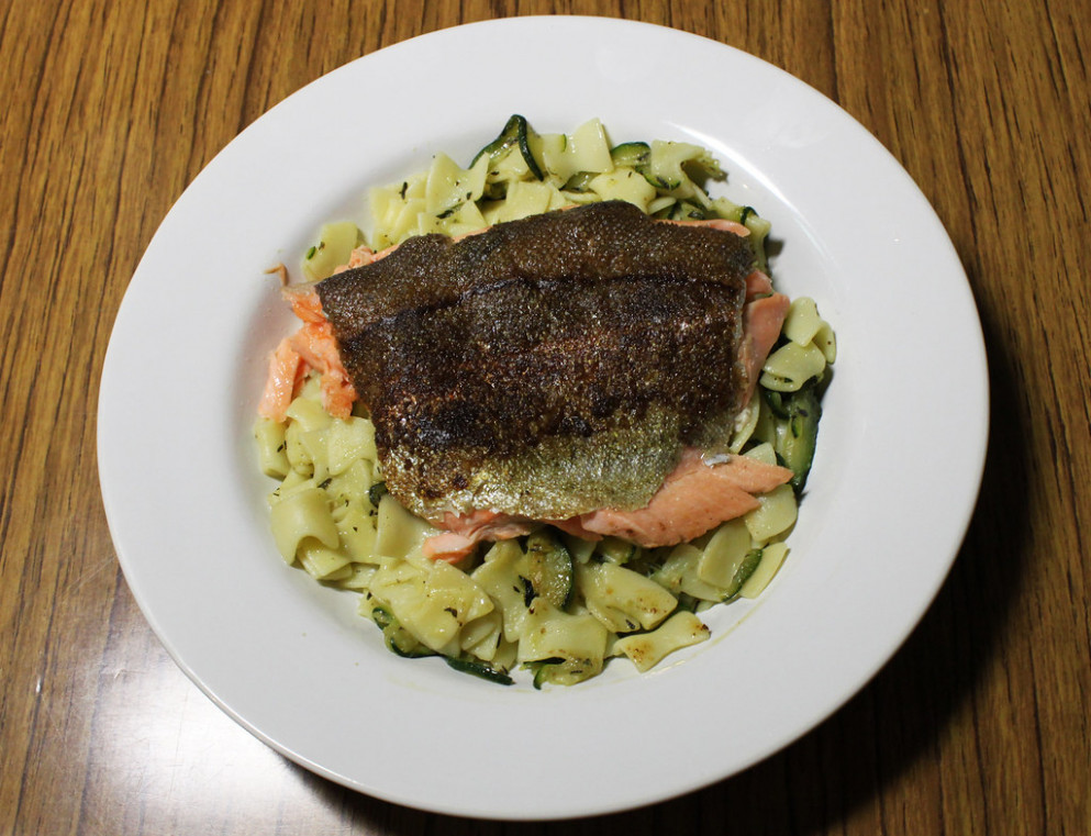 Trout with Zucchini Noodles
