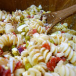 Tuna Pasta Salad With Celery & Egg Recipe — Dishmaps