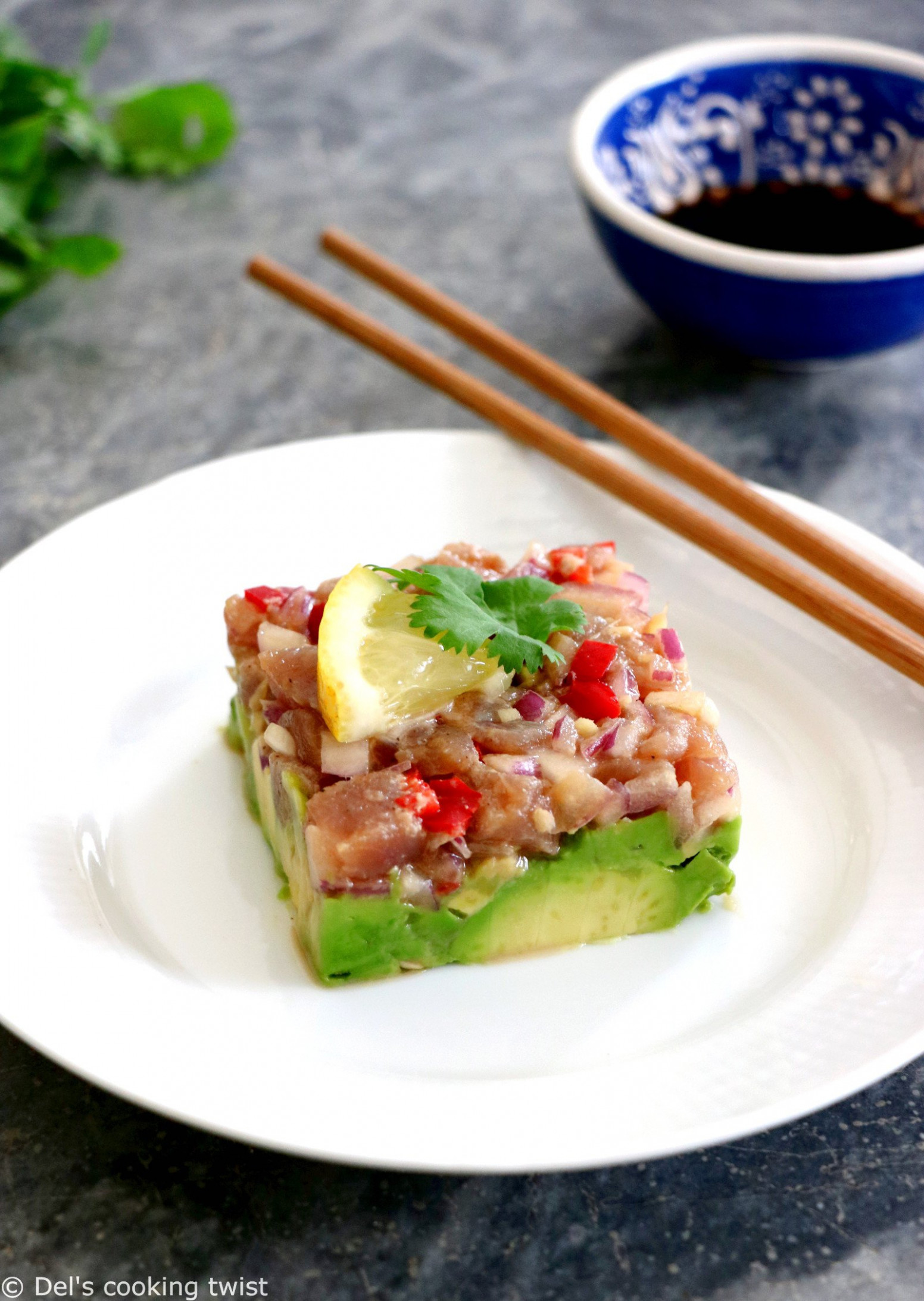 Tuna Tartare with Ginger Soy Dressing – Del's cooking twist