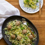 Turkey Meatballs with Zucchini Spaghetti - BetsyLife