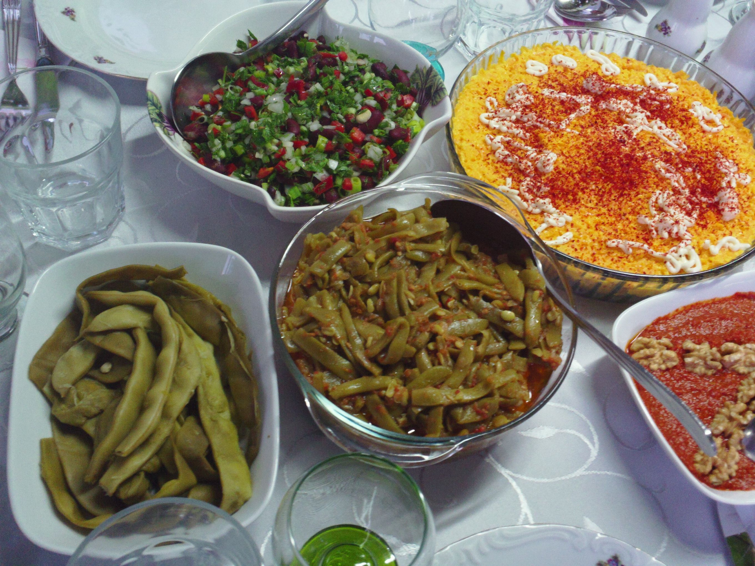 Turkish Dinner Table | Turkish Food | Turkish recipes ...