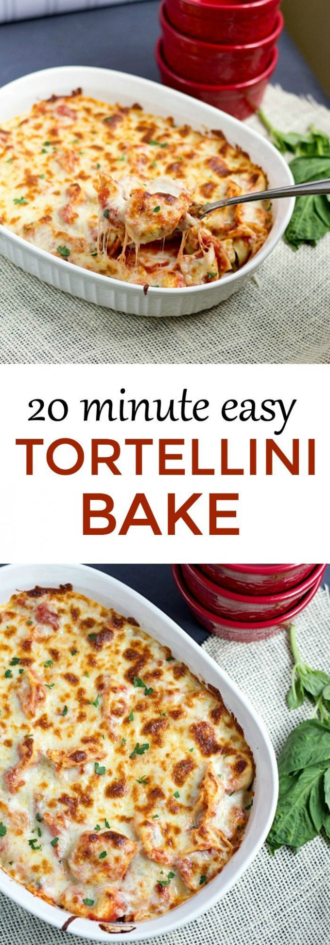 Twenty Minute Easy Tortellini Bake | Recipe | Eat This ...