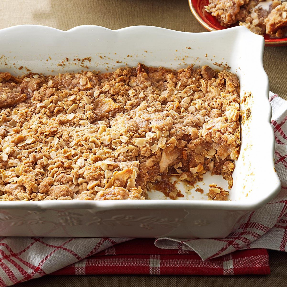 Two-Layered Apple Crisp Recipe | Taste of Home
