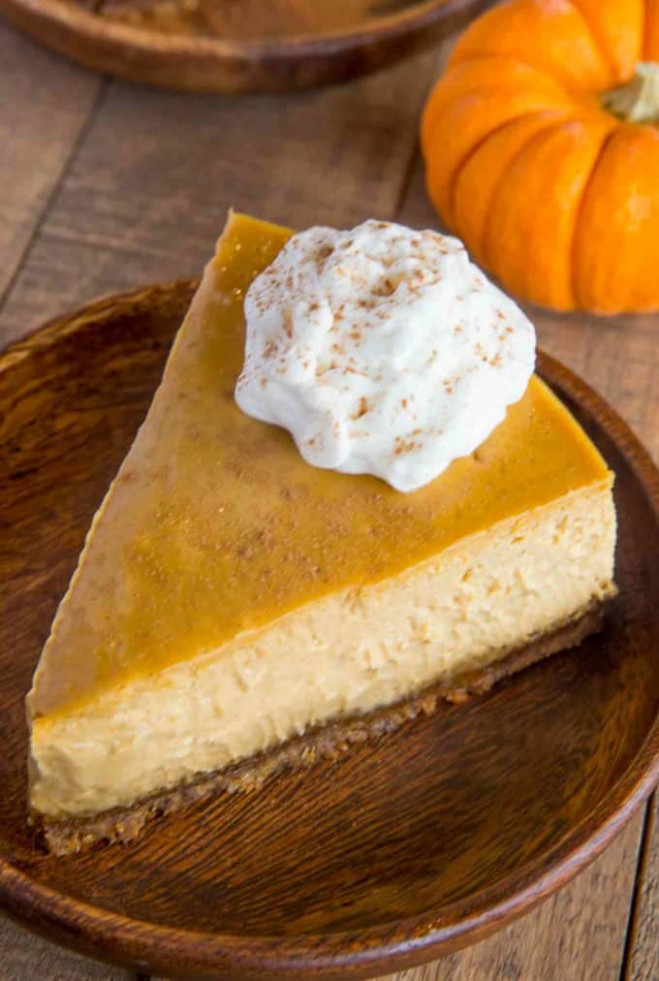 Ultimate Pumpkin Cheesecake - Dinner, then Dessert