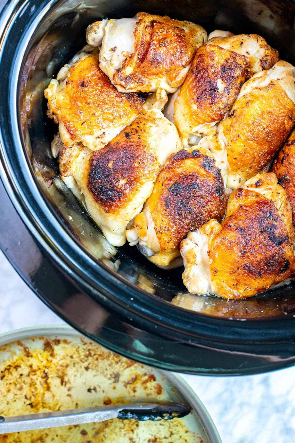 Ultimate Slow Cooker Lemon Chicken Thighs