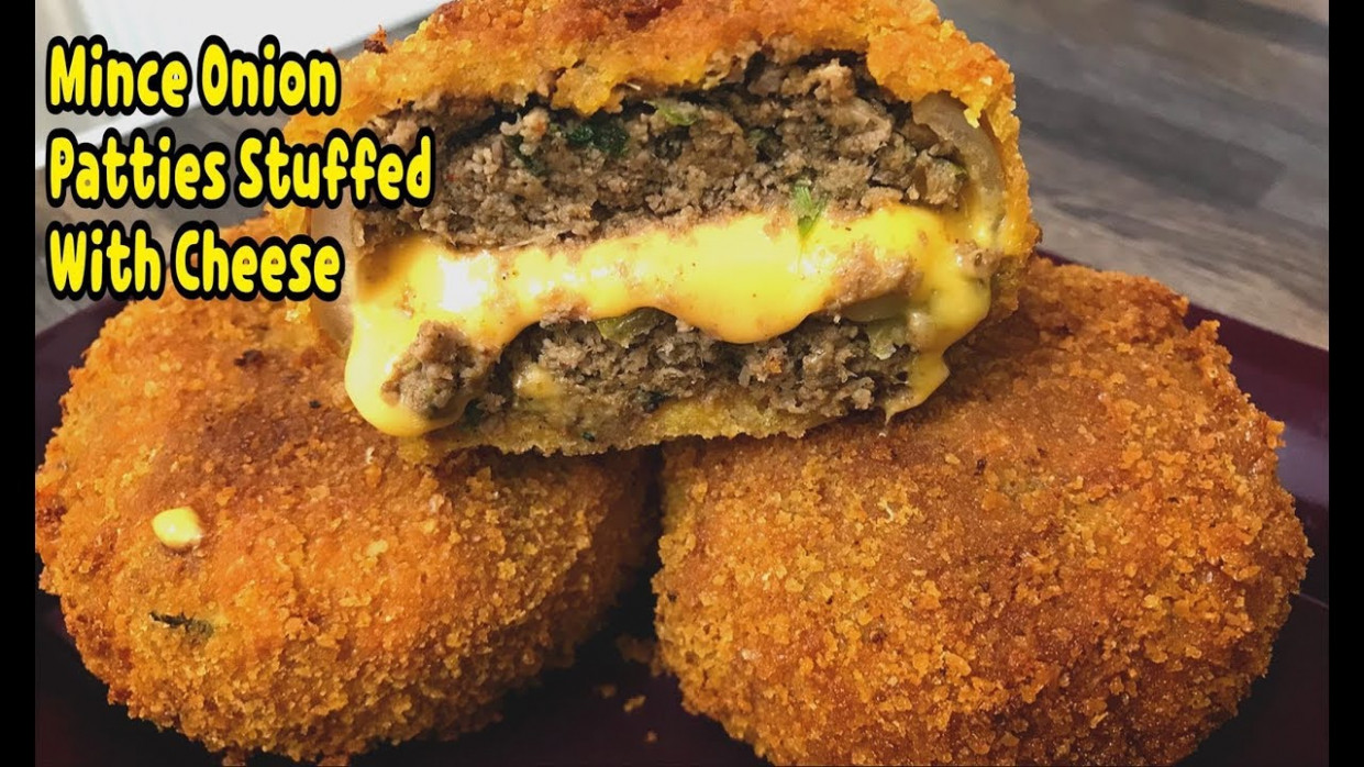 Unique Way To Make Mince And Onion Patties With Cheese ...