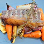 Veal Steak With Roasted Root Veg