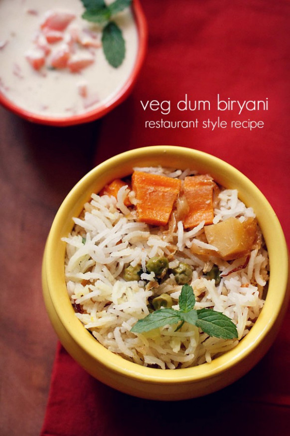 veg biryani recipe restaurant style - best vegetable dum ...