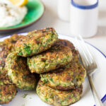 Vegan Greek Zucchini Fritters – Lazy Cat Kitchen
