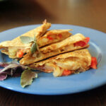 Vegetable And Goat Cheese Quesadilla
