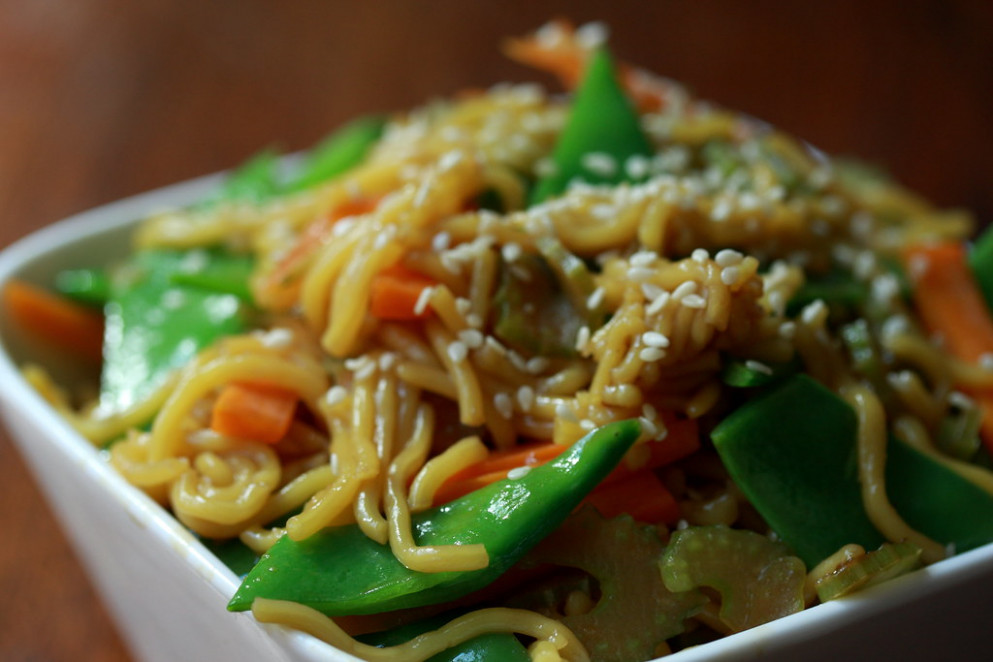 Vegetable Chow Mein (Fried Noodles)