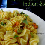 Vegetable Pasta Indian Style |Nithya's Nalabagam
