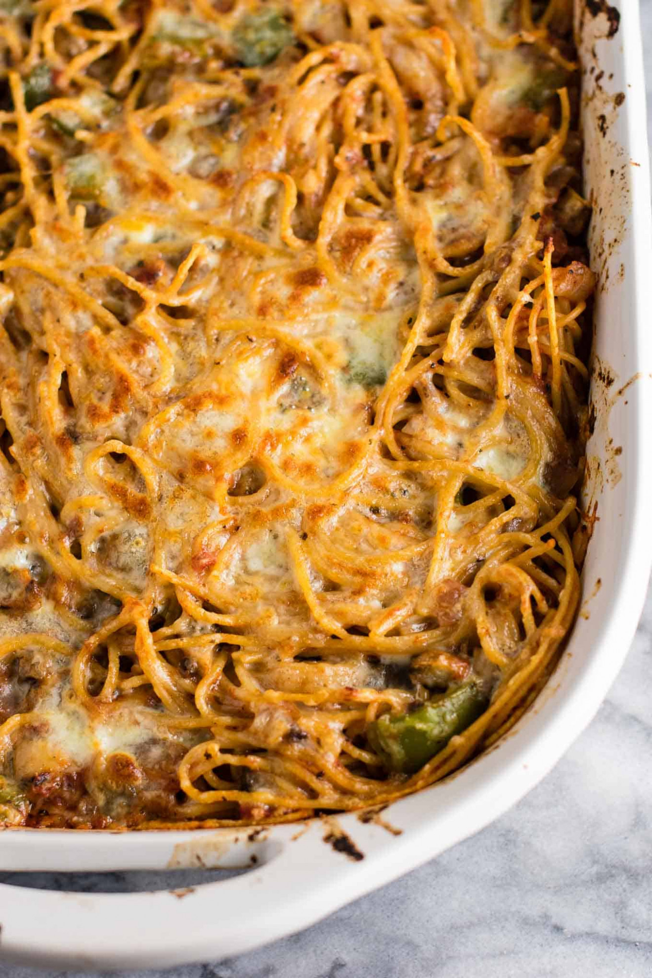 Vegetarian Baked Spaghetti Recipe - Build Your Bite