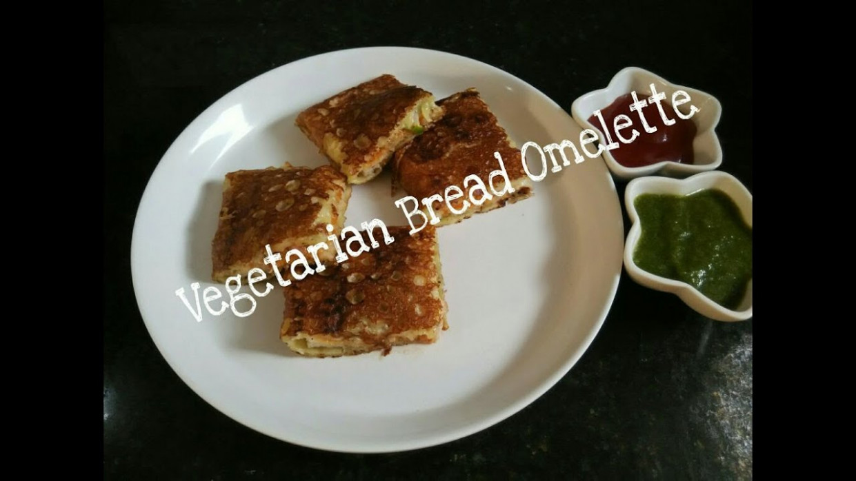 Vegetarian Bread Omelette Recipe/without egg/instant snack ...