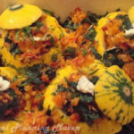 Veggie Stuffed Pattypan Squash With Tomato Basil Coulis …